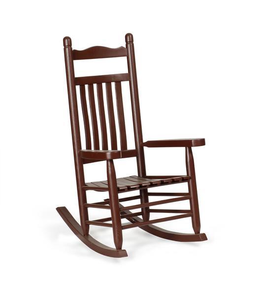 Amish Ash Wood Lumbar Porch Rocking Chair