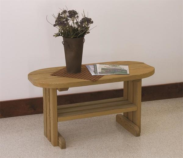 LuxCraft Wood Outdoor Coffee Table
