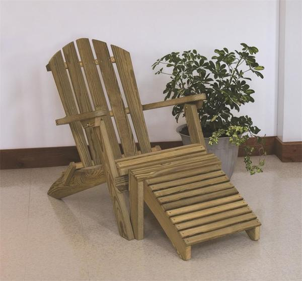 LuxCraft Wooden Folding Adirondack Chair