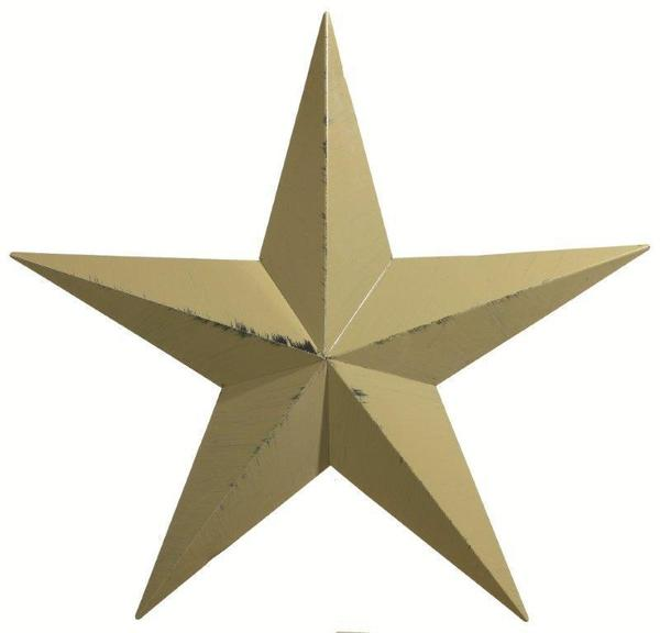 "Amish 40"" Painted Metal Barn Star"