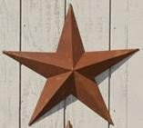 "24"" Rusty Amish Barn Star"