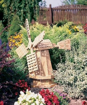 LuxCraft Small Pine Dutch Garden Windmill