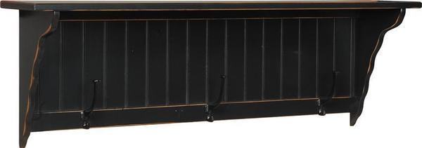 Amish Pine Wood 4' Wall Shelf