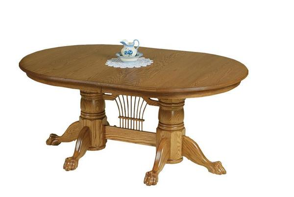 Amish Yorkshire Double Pedestal Dining Room Table