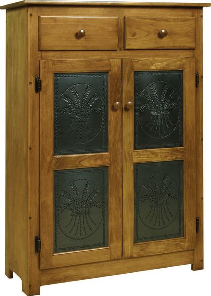 Amish Pie Safe with Tin Doors - Pine Wood Pie Safe With Tin Doors From DutchCrafters Amish Furniture