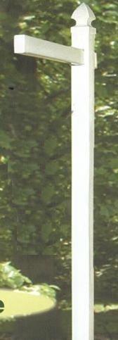 Amish Vinyl White Straight Sign Post