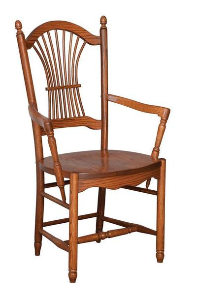Amish Hanover Sheaf Back Dining Chair