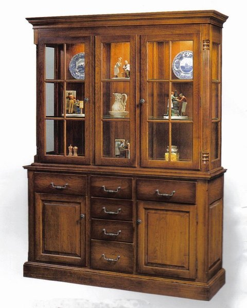 Amish Made Heirloom China Cabinet Hutch