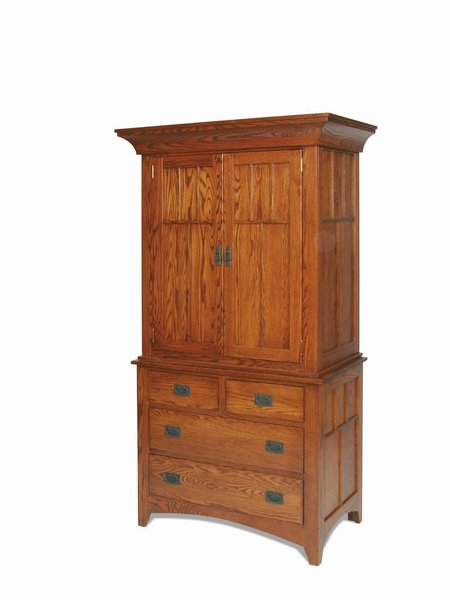 Amish Craftsman Mission Armoire