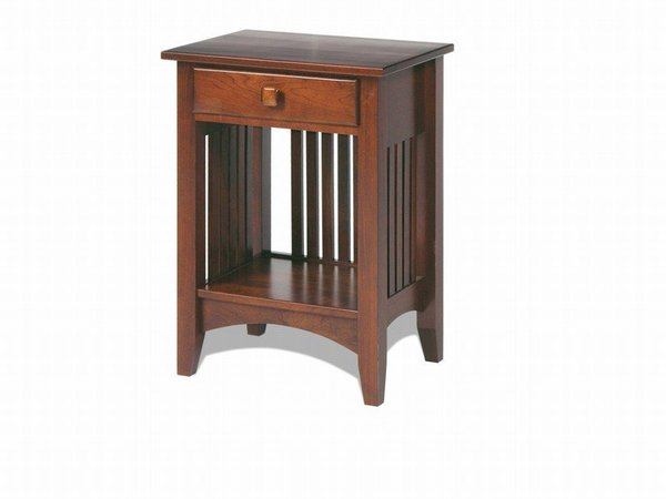 Amish Craftsman Mission One Drawer Night Stand