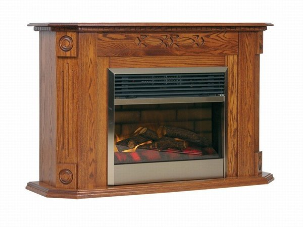 Amish Heritage Mantel Electric Fireplace with Insert