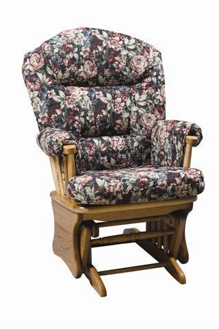 Amish Arch Back Glider Chair
