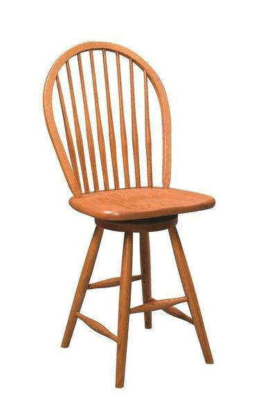 Amish Bow Back Windsor Swivel Barstool