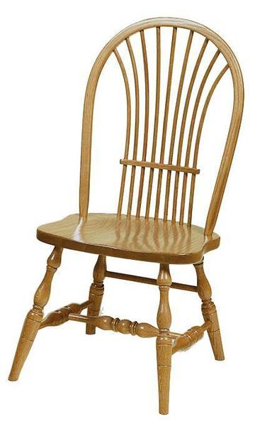 Amish Yorkshire Wheat Back Windsor Dining Chair
