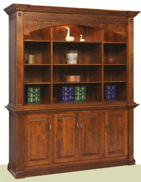 Amish Crescent Moon Executive Bookcase