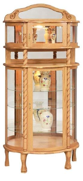 Amish Rope Twist Deluxe Curio Cabinet