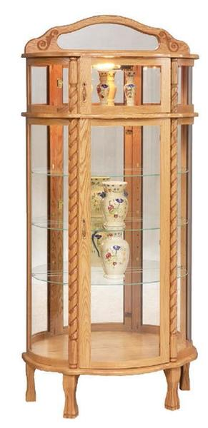 Amish Bonnet Top Curio Cabinet