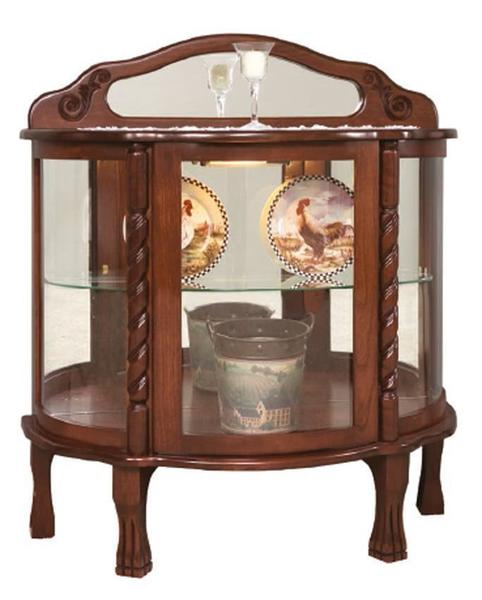 Amish Short Rope Twist Curio Cabinet