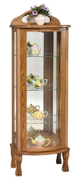 Amish Rectangular Curio Cabinet