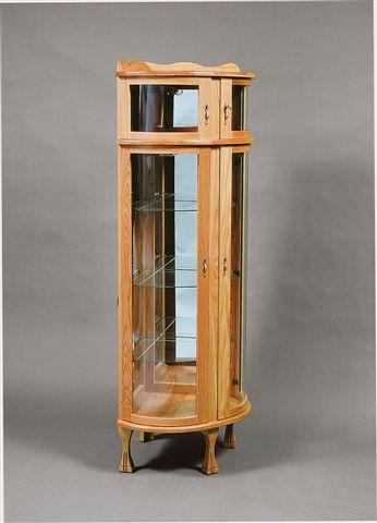 Amish Corner Bonnet Top Curio Cabinet