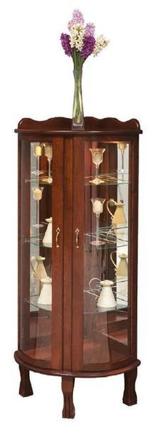 Amish Victorian Corner Curio Cabinet