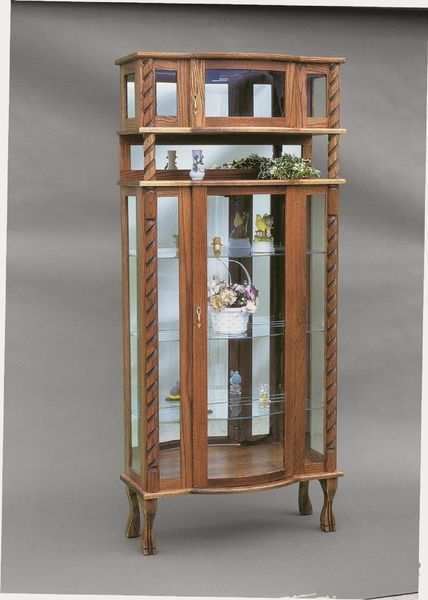 Amish Tri-Front Deluxe Curio Cabinet