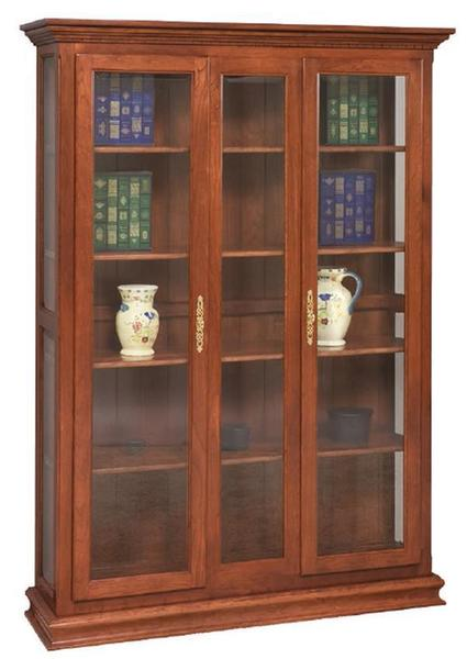 Amish Double Door Picture Frame Deluxe Bookcase