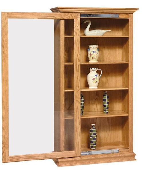 Amish Sliding Door Large Bookcase