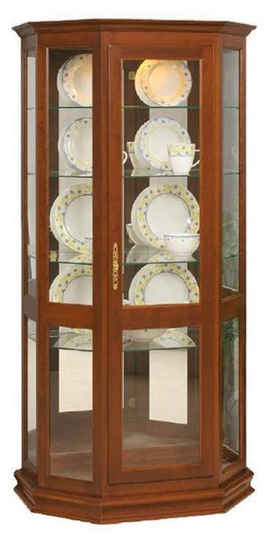 Amish Angled Curio Cabinet