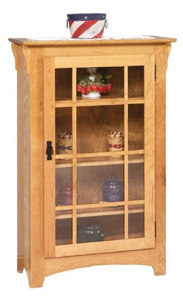 Amish Single Door Small Mission Bookcase