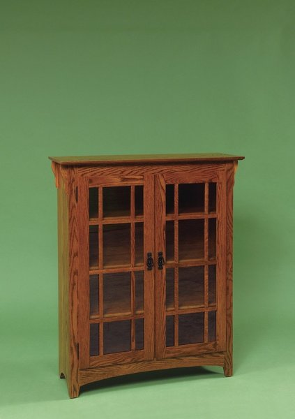 Amish Double Door Small Mission Bookcase