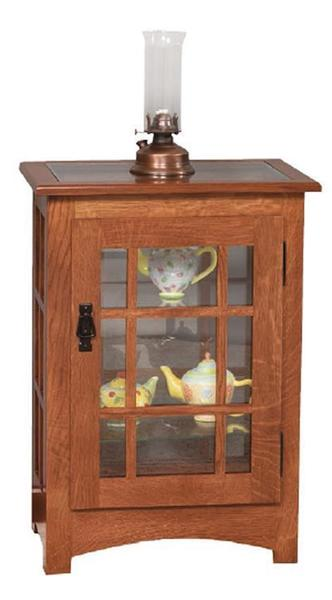 Amish Mission Console Curio End Table