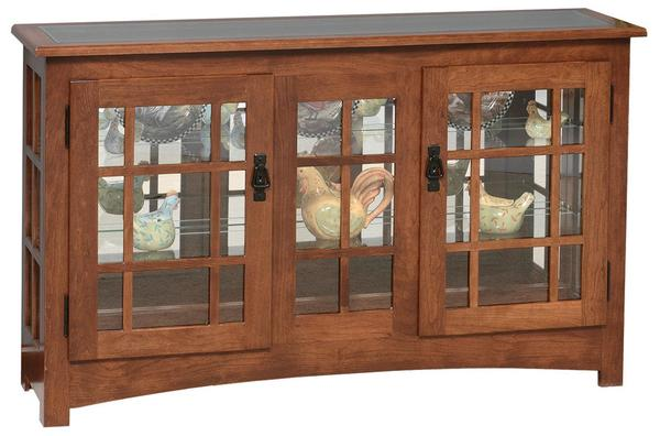 Merveilleux Amish Mission Style Large Console Curio Cabinet