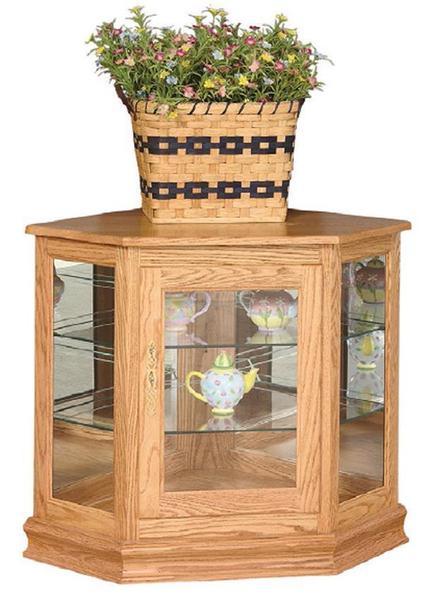 Amish Deluxe Console Corner Curio Cabinet