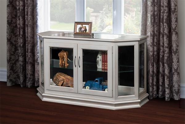 Amish Angled Console Curio Cabinet
