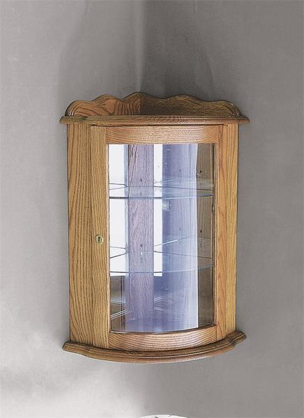 Amish Corner Wall Curio Cabinet