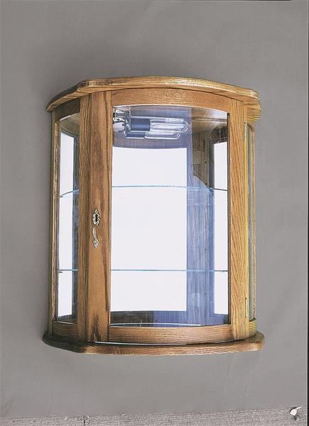 Amish Flat Wall Curio Cabinet