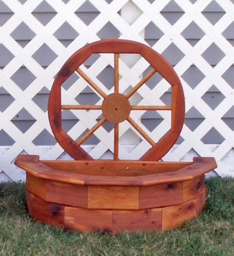Amish Classical Wagon Wheel Planter - Small