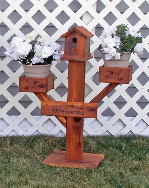 Amish Made Medium Birdhouse Planter