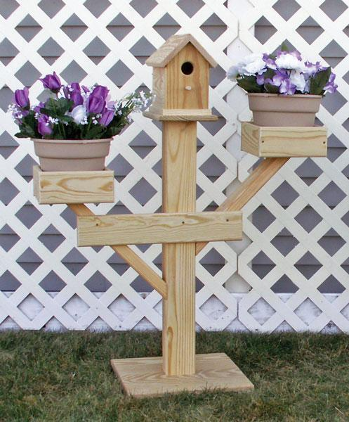 Large Amish Birdhouse Planter - Red Cedar