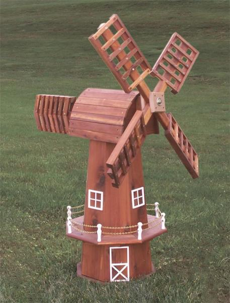 Amish Red Cedar Windmill with Swivel Top