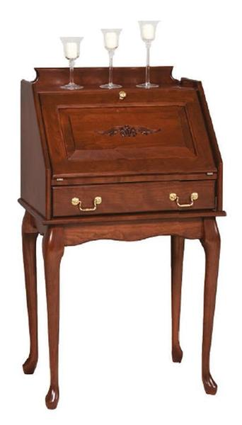 Amish Queen Anne Secretary Desk