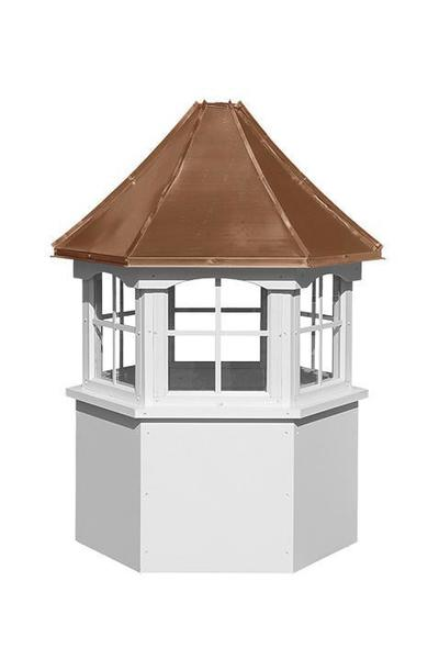 Amish Made Vinyl Hexagon Window Cupola