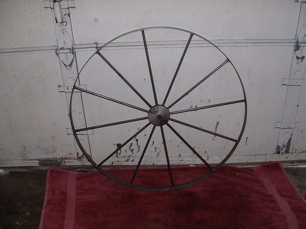 "Amish Metal Buggy Wheel - 36"" Diameter"