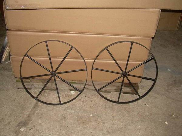 "Amish Metal Buggy Wheels - 18"", 14"", 10"""