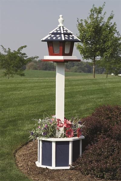 4' Painted Post for Birdfeeder, Birdhouse or Mailbox