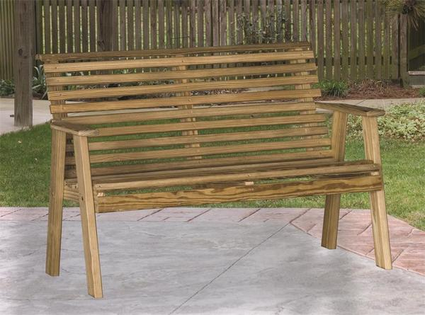 LuxCraft Pine Rollback Patio Bench