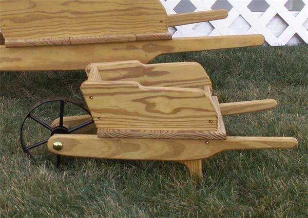 Small Amish Decorative Wheelbarrow