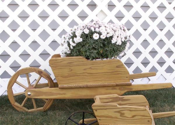 Large Amish Decorative Wheelbarrow