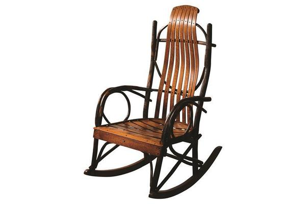 Amish Hickory Twig Oversized Rocker